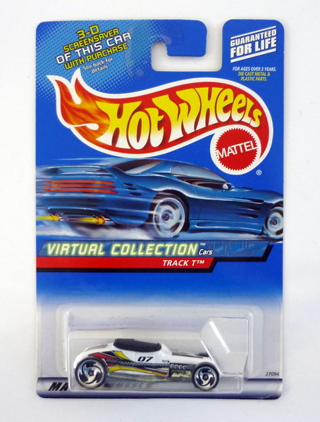 HOT WHEELS TRACK T #127 Virtual Collection White Die-Cast Car 1999