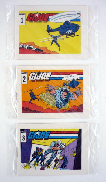 GI Joe Starduster Comic Books #1, 2, 3 Action Stars Mini Cereal Promo Complete Set 1985