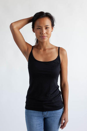 The Little Spaghetti Cami Top Clothes & Roads X-Small Black