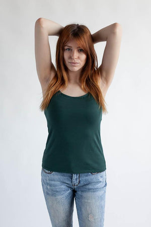 The Little Spaghetti Cami Top Clothes & Roads X-Small Tropical green