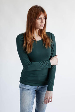 The Wanderer Longsleeve Shirt Top Clothes & Roads X-Small Tropical green