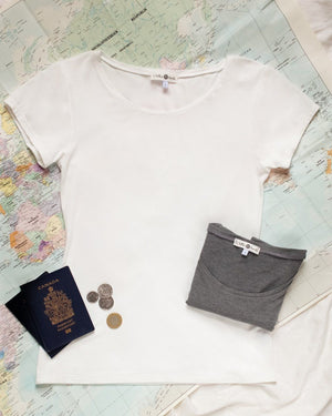 The Wanderer T-Shirt Top Clothes & Roads X-Small Ivory