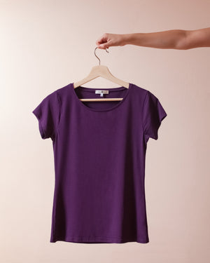The Wanderer T-Shirt Top Clothes & Roads X-Small Plum