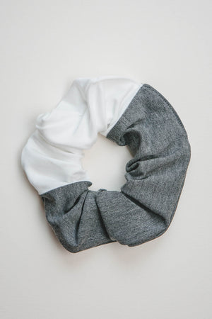 The Zero Waste Scrunchie - 2 COLORS Scrunchie Clothes & Roads Large Ivory-Grey