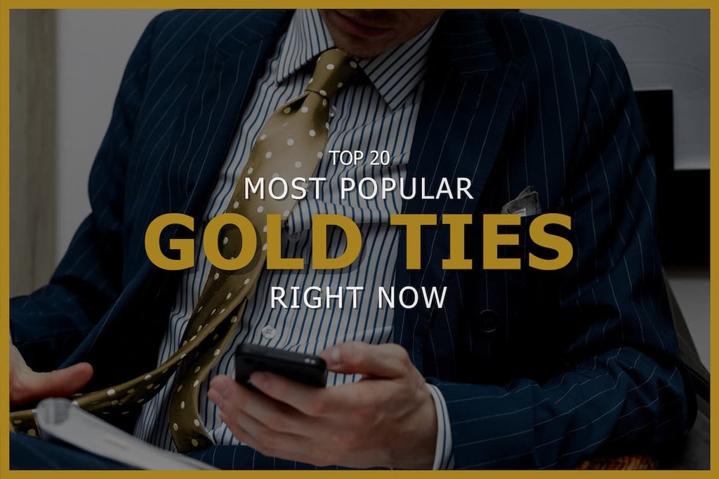 Top 20 Popular Gold Ties For Men Today