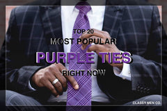 Top 20 Popular Purple Ties Today