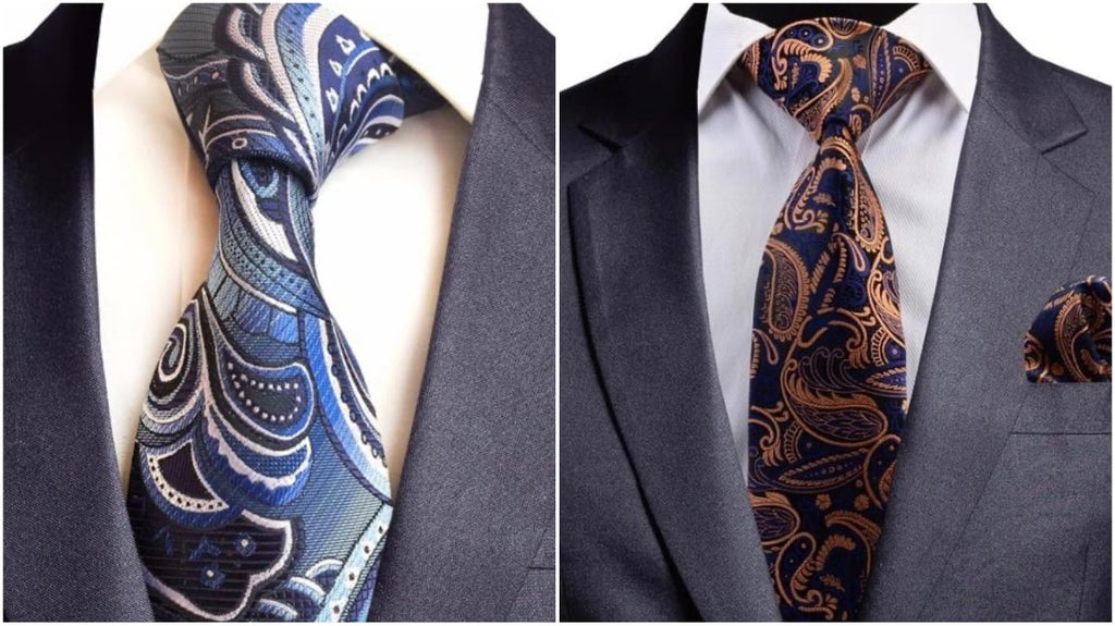 Blue Paisley Ties For Men