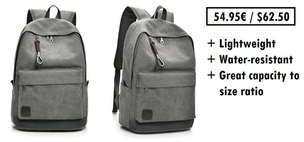 Canvas backpack for everyday use