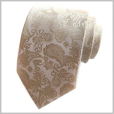 Champagne Gold Paisley Silk Tie