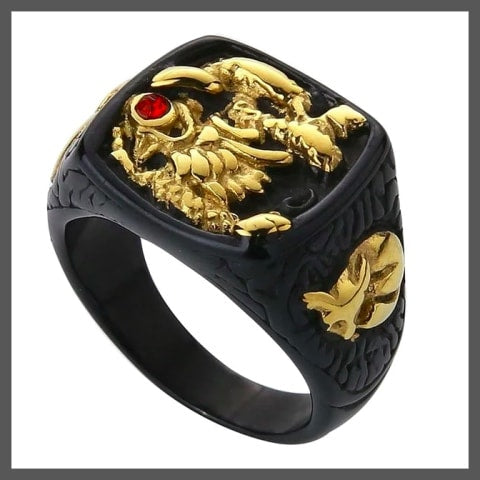 Designer pinky ring for men