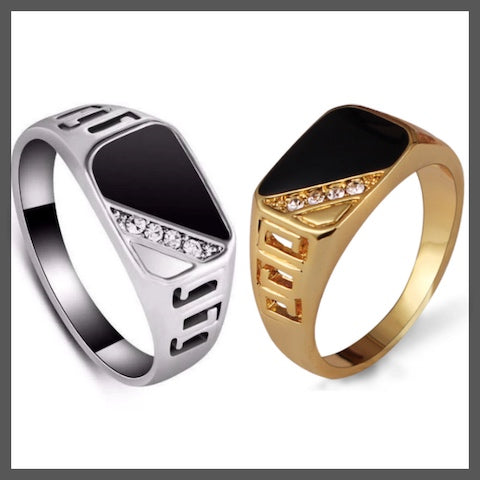 Diamond pinky ring for men