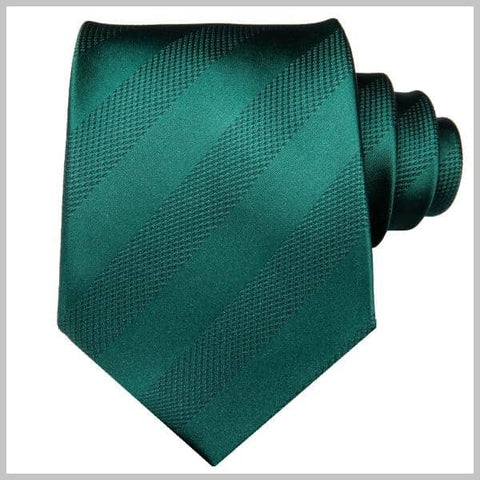 Emerald green striped tie