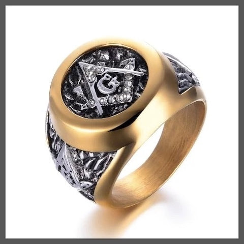 Masonic pinky ring for men