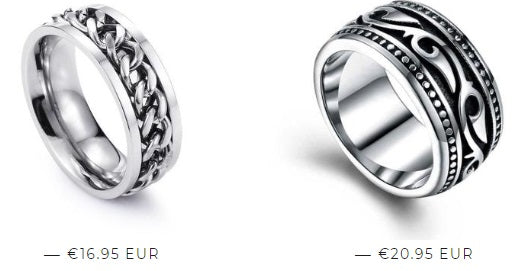 Men's rings with personality