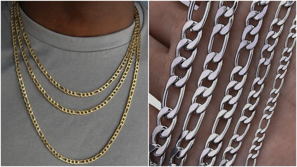 Most popular figaro chain necklaces for men