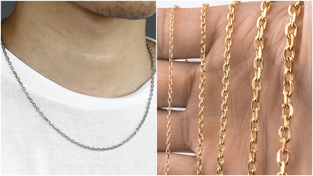 Most popular rolo chain necklaces for men