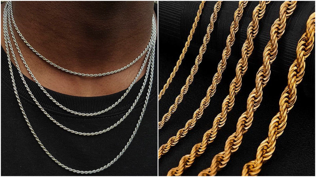 Most popular rope chain necklaces for men