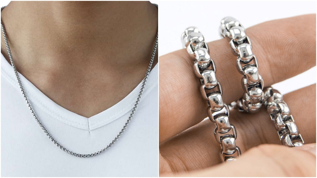 Most popular box chain necklaces for men