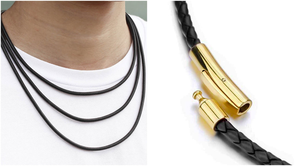Most popular leather chain necklaces for men