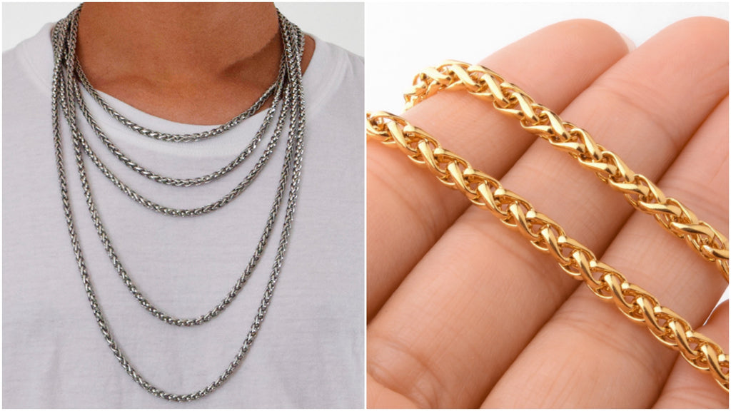 Most popular wheat chain necklaces for men