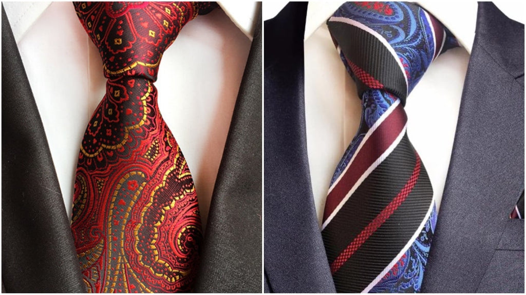 Red Paisley Ties For Men