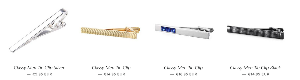 Tie Clips from Classy Men Collection