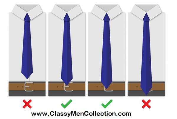 Perfect length for a necktie