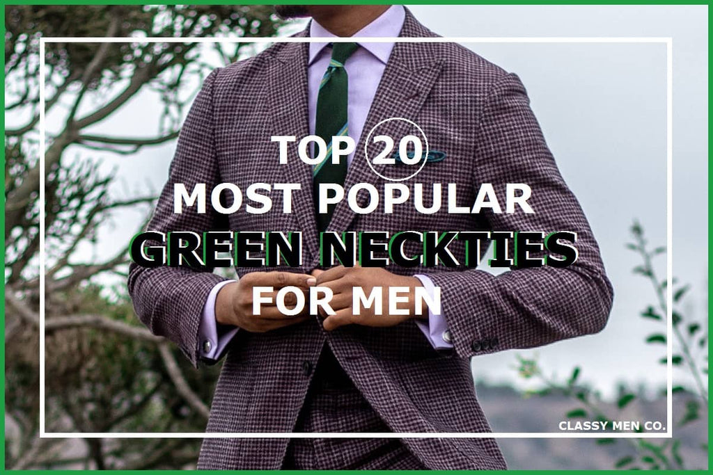 Popular green ties for men
