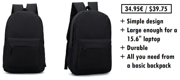Affordable basic backpack for men