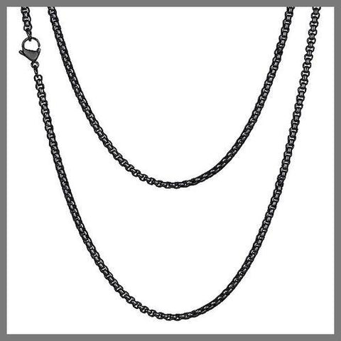 Black box chain necklace