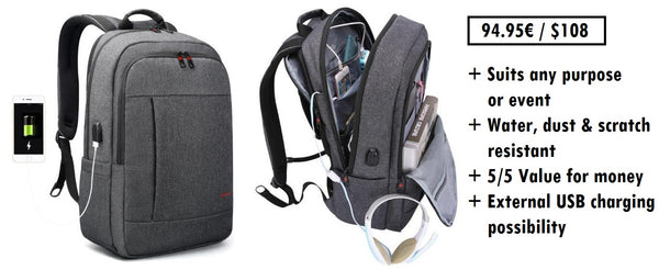 Business backpack for travel and work