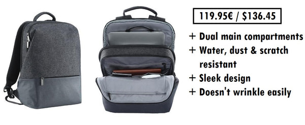 Laptop backpack for men with a modern design