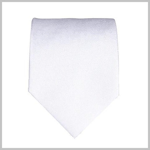Silver fine silk tie with a light pattern