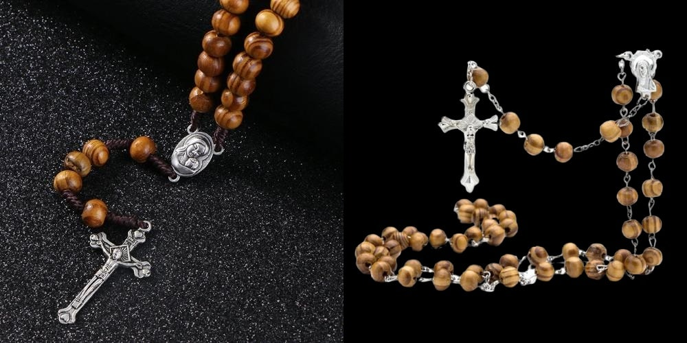 Rosary cross necklaces for men