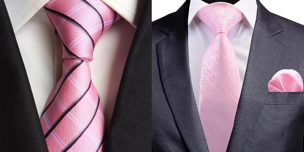 Pink ties for wedding