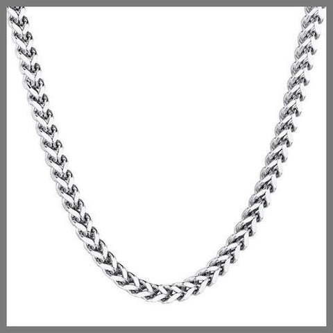 Silver franco chain necklace
