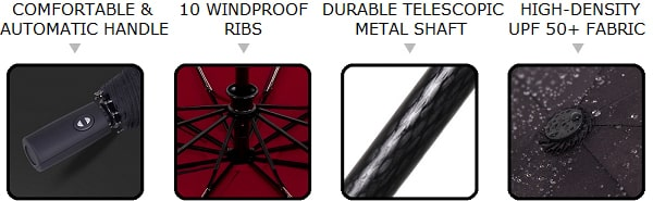 Wine red & black 2 color umbrella selling points