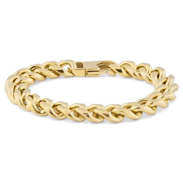 Classy Men 12mm Gold-Toned Chain Bracelet