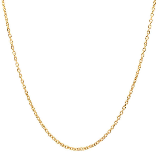 Classy Men 2.4mm Gold Rolo Chain Necklace