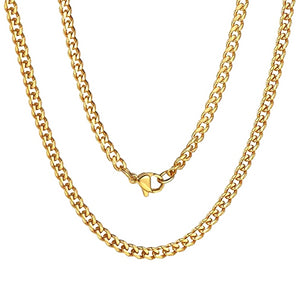 Classy Men 3.5mm Gold Curb Chain Necklace