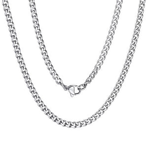 Classy Men 3.5mm Silver Curb Chain Necklace