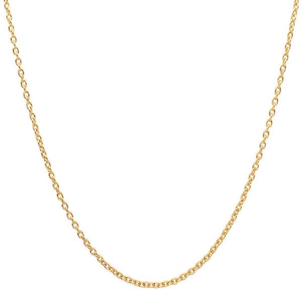 Classy Men 3mm Gold Rolo Chain Necklace