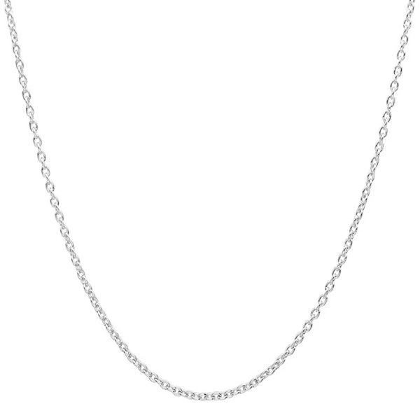 Classy Men 3mm Silver Rolo Chain Necklace