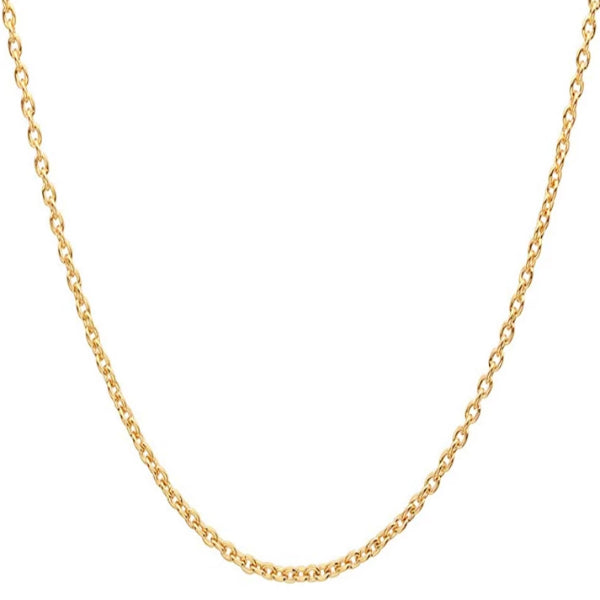 Classy Men 4mm Gold Rolo Chain Necklace