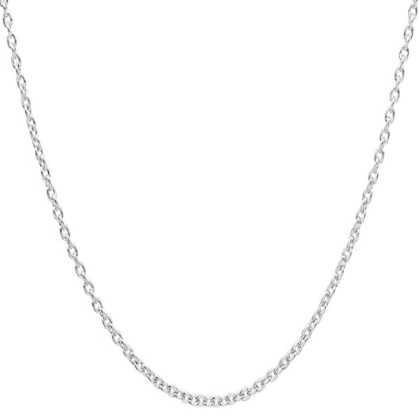 Classy Men 4mm Silver Rolo Chain Necklace