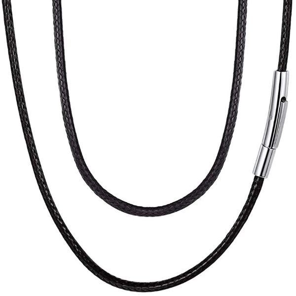 Classy Men 5mm Braided Leather Chain Necklace
