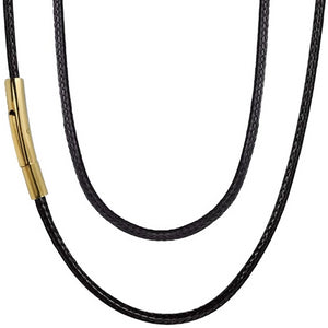 Classy Men 5mm Gold Leather Chain Necklace