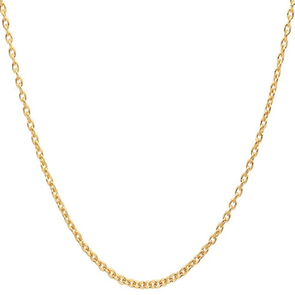 Classy Men 5mm Gold Rolo Chain Necklace
