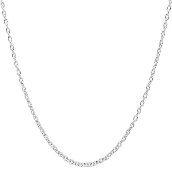 Classy Men 5mm Silver Rolo Chain Necklace