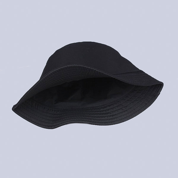 Black bucket hat for men